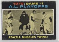 1970 Game #1 A.L. Playoffs: Powell Muscles Twins! [GoodtoVG‑E…