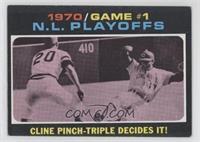 1970 N.L. Playoffs - Cline Pinch-Triple Decides It!