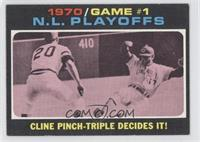 N.L. Playoffs Game 1 (Cline Pinch-Triple Decides It!)
