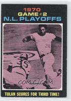1970 N.L. Playoffs - Tolan Scores For Third Time! [Noted]