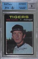 Billy Martin [JSA Certified Encased by BGS]