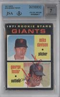 Rookie Stars Giants (Mike Davison, George Foster) [BGS/JSA Certified …