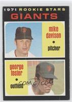 Rookie Stars Giants (Mike Davison, George Foster)
