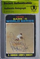 1970 World Series - Game #5: B. Robinson Commits Robbery! [BAS Certified&n…