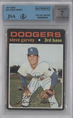 1971 Topps - [Base] #341 - Steve Garvey [BGS/JSACertifiedAuto]