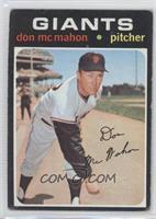 Don McMahon [GoodtoVG‑EX]