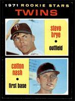 1971 Rookie Stars - Steve Brye, Cotton Nash [NM+]
