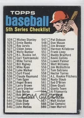 1971 Topps - [Base] #499 - 5th Series Checklist