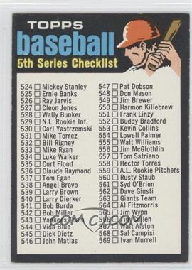 1971 Topps - [Base] #499 - 5th Series Checklist