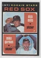 1971 Rookie Stars - Dick Mills, Mike Garman [NoneIncompleteItem]
