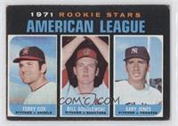 1971 Rookie Stars - Terry Cox, Bill Gogolewski, Gary Jones [NoneGood…