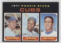 Cubs Rookie Stars (Adrian Garrett, Brock Davis, Garry Jestadt)