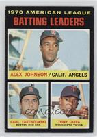 AL Batting Leaders (Alex Johnson, Carl Yastrzemski, Tony Oliva) [Good to&n…