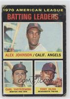 AL Batting Leaders (Alex Johnson, Carl Yastrzemski, Tony Oliva) [Poor]