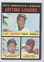 AL Batting Leaders (Alex Johnson, Carl Yastrzemski, Tony Oliva)