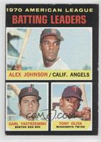 AL Batting Leaders (Alex Johnson, Carl Yastrzemski, Tony Oliva) [Goodto&n…