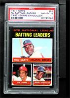 NL Batting Leaders (Rico Carty, Joe Torre, Manny Sanguillen) [PSA8N…
