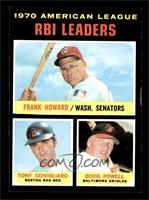 American League RBI Leaders (Frank Howard, Tony Conigliaro, Boog Powell) [VG&nb…