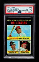American League RBI Leaders (Frank Howard, Tony Conigliaro, Boog Powell) [PSA&n…