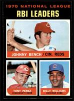 NL RBI Leaders (Johnny Bench, Tony Perez, Billy Williams) [NM]