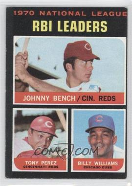 1971 Topps - [Base] #64 - NL RBI Leaders (Johnny Bench, Tony Perez, Billy Williams) [Good to VG‑EX]