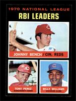 NL RBI Leaders (Johnny Bench, Tony Perez, Billy Williams) [NM+]