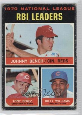 1971 Topps - [Base] #64 - NL RBI Leaders (Johnny Bench, Tony Perez, Billy Williams) [PoortoFair]