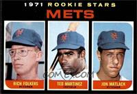 Mets Rookie Stars (Rich Folkers, Ted Martinez, Jon Matlack) [EXMT]
