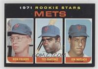 Mets Rookie Stars (Rich Folkers, Ted Martinez, Jon Matlack)