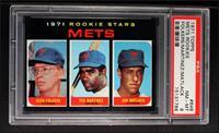 Mets Rookie Stars (Rich Folkers, Ted Martinez, Jon Matlack) [PSA8]