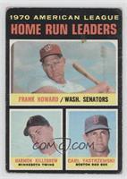 AL Home Run Leaders (Frank Howard, Harmon Killebrew, Carl Yastrzemski) [Good&nb…