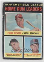 AL Home Run Leaders (Frank Howard, Harmon Killebrew, Carl Yastrzemski) [Poor&nb…