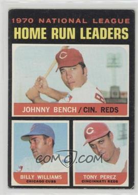 1971 Topps - [Base] #66 - Johnny Bench, Tony Perez, Billy Williams [GoodtoVG‑EX]