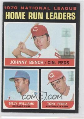 1971 Topps - [Base] #66 - Johnny Bench, Tony Perez, Billy Williams