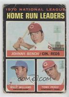 NL Home Run Leaders (Johnny Bench, Tony Perez, Billy Williams) [Poor]