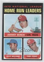 NL Home Run Leaders (Johnny Bench, Tony Perez, Billy Williams) [Goodto&nb…