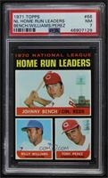 NL Home Run Leaders (Johnny Bench, Tony Perez, Billy Williams) [PSA7…