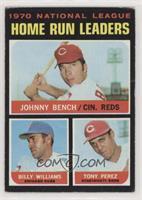 NL Home Run Leaders (Johnny Bench, Tony Perez, Billy Williams) [Poorto&nb…
