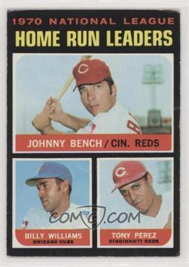 1971 Topps - [Base] #66 - NL Home Run Leaders (Johnny Bench, Tony Perez, Billy Williams) [PoortoFair]