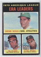American League ERA Leaders (Diego Segui, Jim Palmer, Clyde Wright) [Good…