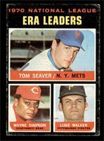 National League ERA Leaders (Tom Seaver, Wayne Simpson, Luke Walker) [GOOD]