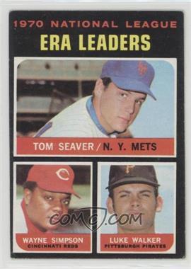 1971 Topps - [Base] #68 - National League ERA Leaders (Tom Seaver, Wayne Simpson, Luke Walker)