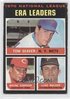 National League ERA Leaders (Tom Seaver, Wayne Simpson, Luke Walker) [Good…