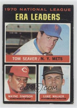 1971 Topps - [Base] #68 - National League ERA Leaders (Tom Seaver, Wayne Simpson, Luke Walker) [Poor to Fair]