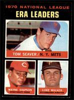 National League ERA Leaders (Tom Seaver, Wayne Simpson, Luke Walker) [NM+]