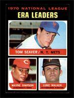 National League ERA Leaders (Tom Seaver, Wayne Simpson, Luke Walker) [NM]