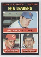 National League ERA Leaders (Tom Seaver, Wayne Simpson, Luke Walker)