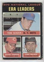National League ERA Leaders (Tom Seaver, Wayne Simpson, Luke Walker) [Poor…