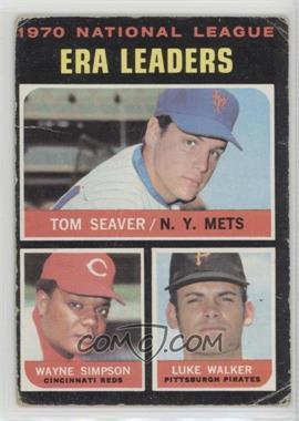 1971 Topps - [Base] #68 - National League ERA Leaders (Tom Seaver, Wayne Simpson, Luke Walker) [PoortoFair]