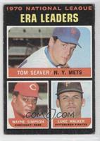 National League ERA Leaders (Tom Seaver, Wayne Simpson, Luke Walker) [Good&nbsp…